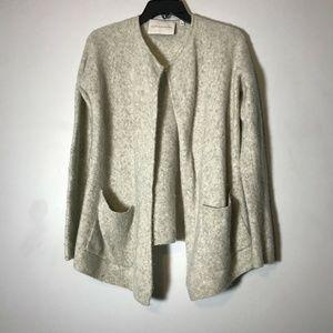 The Group Babaton Gray Wool Yak Soft Cardigan Sz M